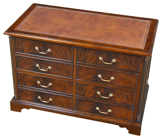 NOF079 Mahogany Four Drawer File Drawers traditional-filing-cabinets
