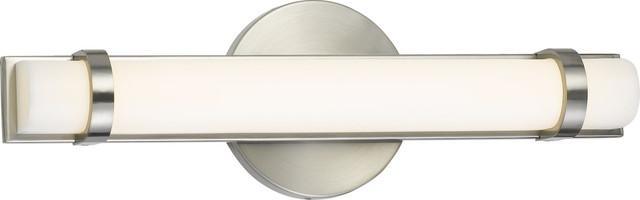 "13"" 13W 1 LED Small Bath Vanity Brushed Steel"