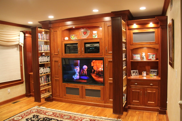 Wall unit entertainment center traditional home Home entertainment center