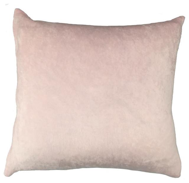 Blush Crushed Velvet Throw Pillow Contemporary Decorative Enchanting Blush Decorative Pillows