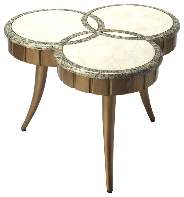Butler Borromeo Fossil Stone Cocktail Table Transitional Coffee Tables By Butler Specialty