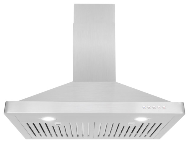 Cosmo 760 Cfm Wall Mount Range Hood With Permanent Filters 30 Ducted