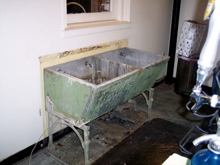 Old Double Laundry Sink Concrete Stone