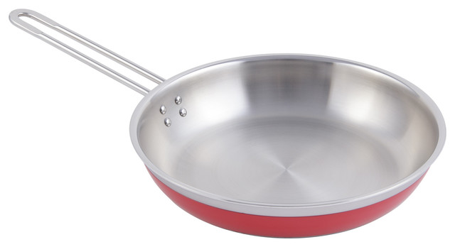 Country French Collection Saute Pan/skillet With 1 Long Handle No Cover.