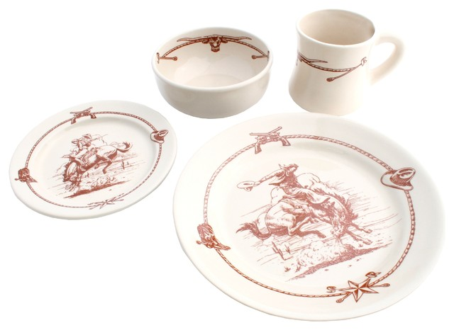 Sky Ranch - Sky Ranch Western Dinnerware Set 16 Pc - Dinnerware Sets  sc 1 st  Houzz & 50 Most Popular Southwestern Dinnerware Sets for 2018 | Houzz