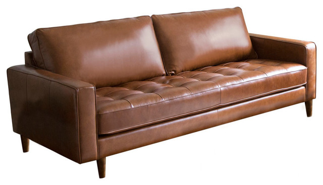 Hammond Mid-Century Leather Seating, Sofa