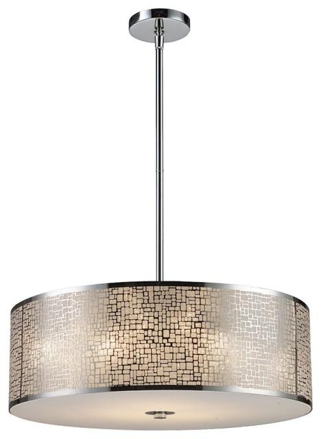 Medina 5-Light Pendant, Polished Stainless Steel