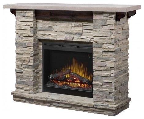 Dimplex Gds26l5, 1152lr Featherstone Fireplace With Ledge Rock Mantel.