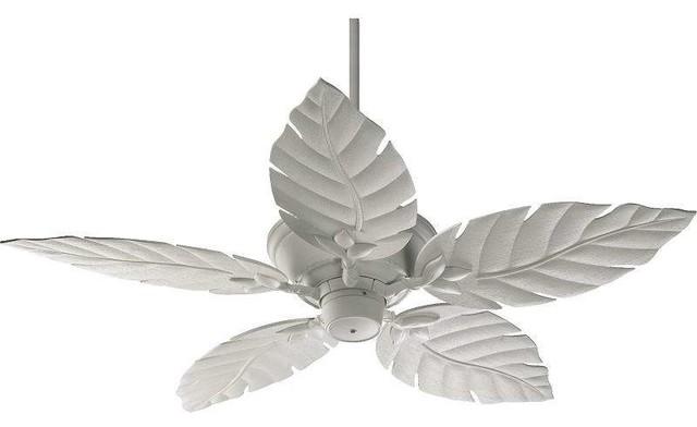 """Quorum 135525-8 Monaco 52"""" Indoor / Outdoor Ceiling Fan, Studio White."""