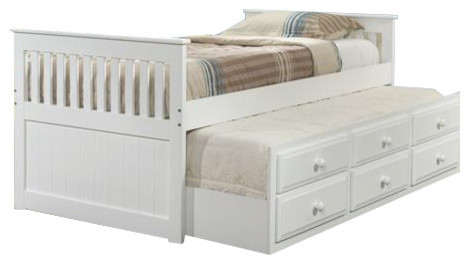 Twin Captains Bed With Trundle And Storage.