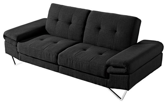 At Home USA Lucia Black Sofa Sleeper & Reviews