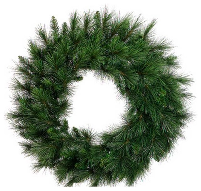 "36"" Long Needle Pine Artificial Christmas Wreath, Unlit."