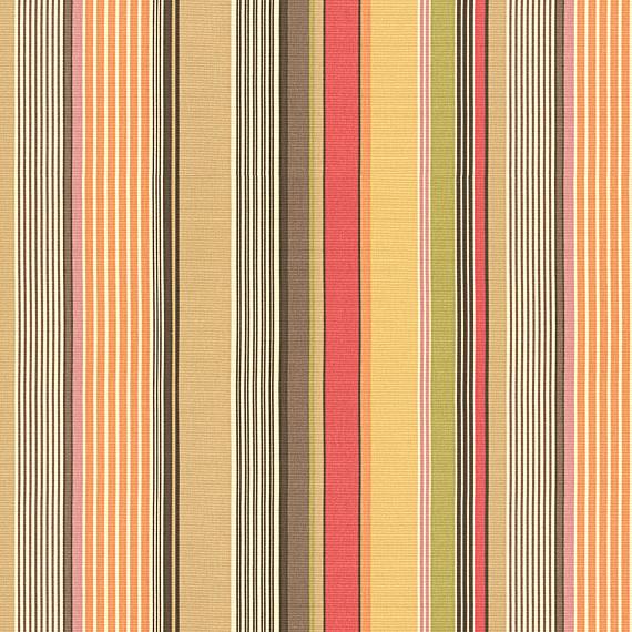 Red and Orange Modern Stripe Fabric