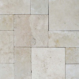 "Tuscany Beige Tumbled, Hardscaping Pavers, Travertine, Tumbled, 8""x16"""