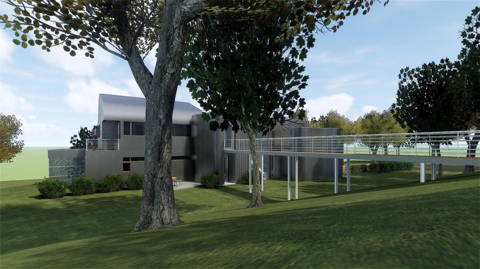 Example of an urban home design design in Austin
