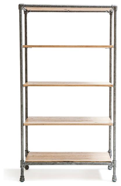 industrial bookcases houzz tall bookshelves