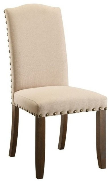 Furniture Of America Brentford Dining Side Chairs, Walnut, Set Of 2