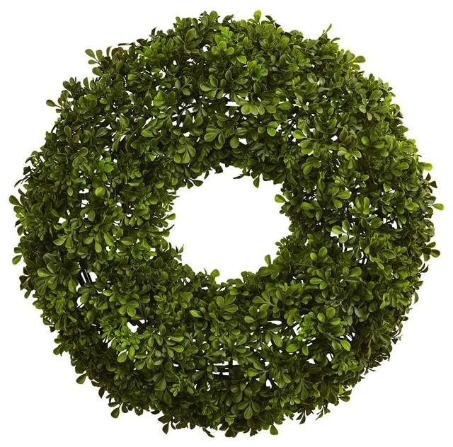 Boxwood Wreath In Green.
