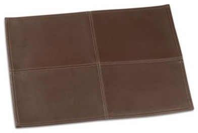 Faux Leather Placemat Contemporary Placemats By Bed