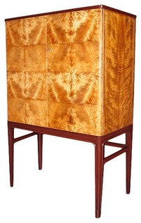 Swedish Mid-Century Modern Storage Cabinet in Golden Flame Birch - Buffets And Sideboards - Los ...