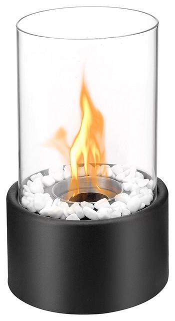 Regal Flame Eden Ventless Tabletop Portable Bio Ethanol Fireplace, Black.