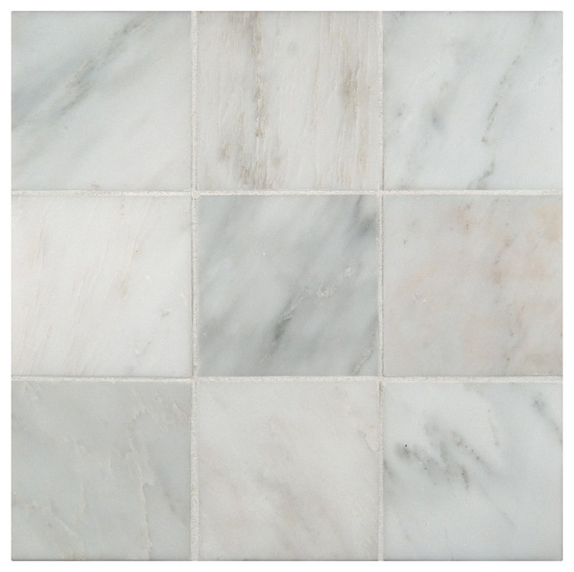 4 X4 Arabeo Carrara Honed Marble Floor And Wall Tile Small Piece Sample