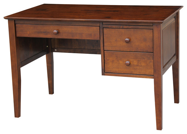 Desk With 3 Drawers Traditional Desks And Hutches By