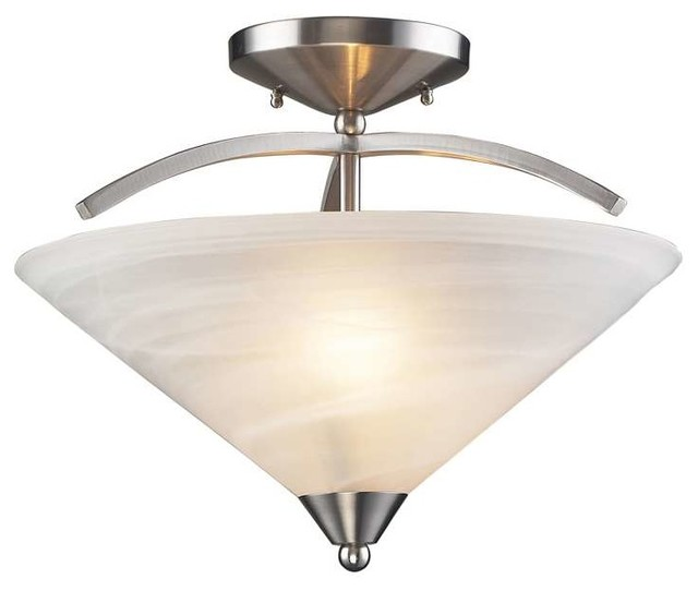Elk lighting 7643 2 elysburg modern semi flush mount for Semi flush mount lighting modern