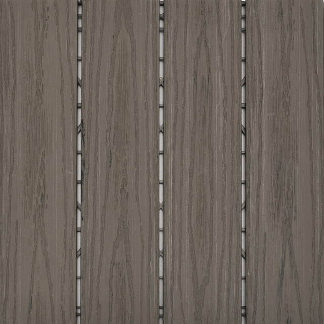 simulated wood deck tiles taupe contemporary wooden decking interlocking over concrete patio