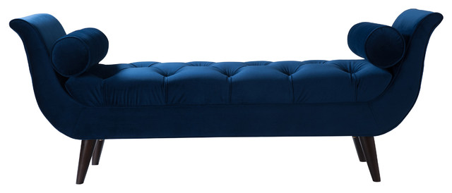 Alma Tufted Entryway Bench Midcentury Upholstered