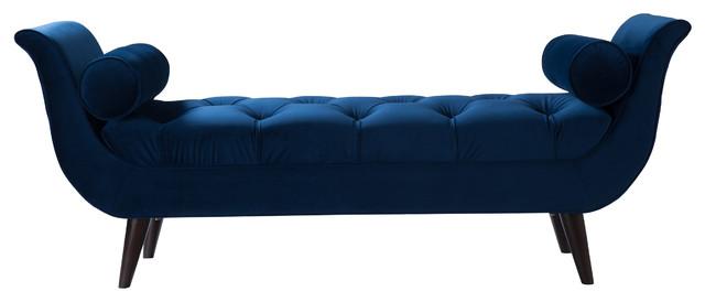 navy blue bench. Arla Bench, Navy Blue Bench