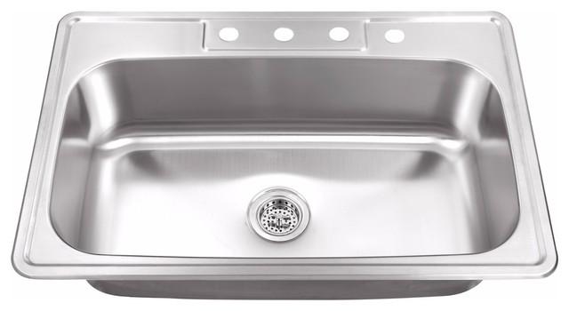 """Drop-In 33"""" Single Bowl 20-Gauge Stainless Steel Utility Sink"""
