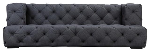 Jasper 3 Sofa, Gray Fabric.