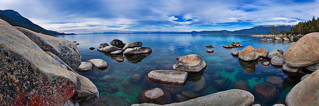 "Tahoe Blue, Canvas Giclee, 90""x30""."