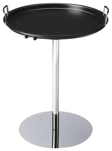 Butler Tray Table Black Metal