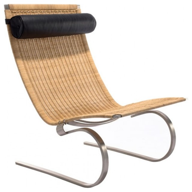 spring modern rocking lounge chair natural rattan