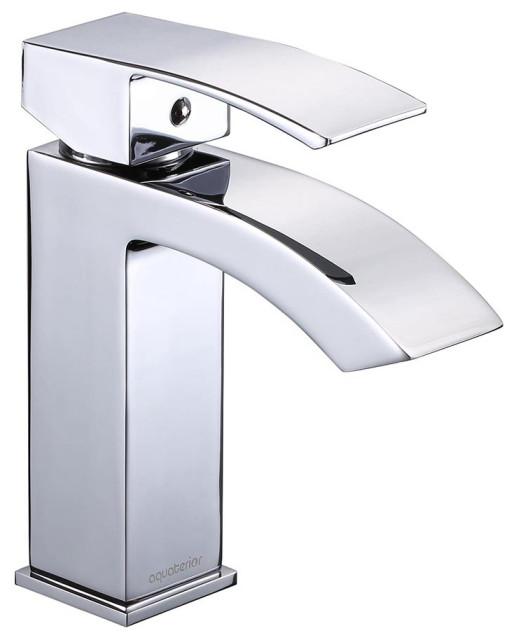 Modern 1 Hole Bathroom Faucet Vanity Sink Basin Single Handle Hotel Diy Contemporary Bathroom Sink Faucets By Yescom Houzz