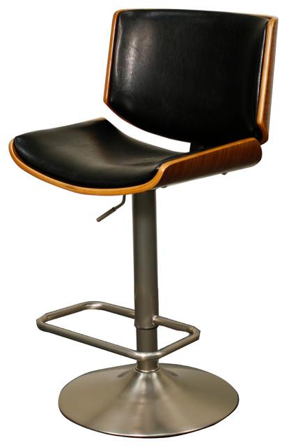 Zolan Gas-Lift Bar Stool Black and Walnut modern-bar-stools-  sc 1 st  Houzz & Zolan Gas-Lift Bar Stool Black and Walnut - Modern - Bar Stools ... islam-shia.org