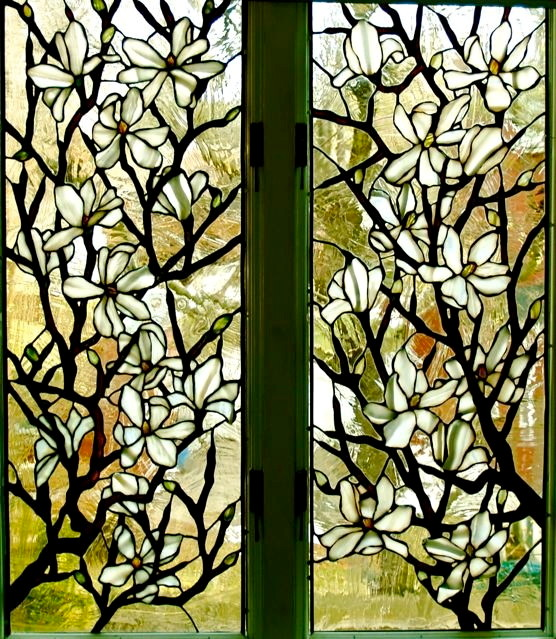 Leaded glass floral windows and transoms - New York - by Somers ...