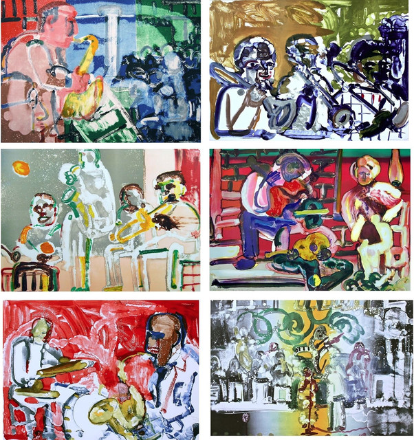 Jazz Suite, Music, 6 Limited Edition Lithographs, Romare Bearden, Art
