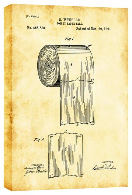 Toilet Paper Roll Vintage Patent\