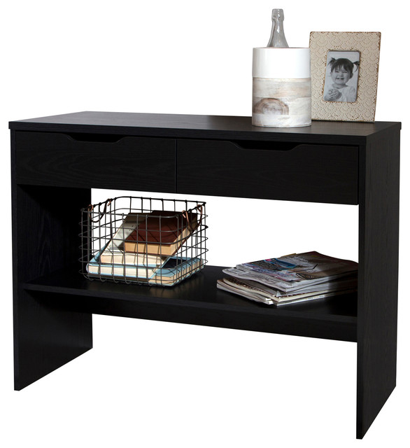 South shore flexible console table with 2 drawers - Table console pliable ...
