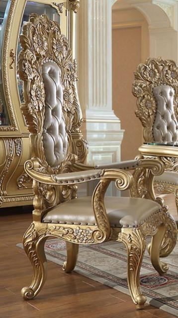Victorian Style Metallic Antique Gold