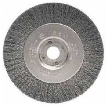 "Narrow Face Crimped Wire Wheel, 4""x1/2"", 0.006"" Stainless Steel, 6, 000 Rpm"