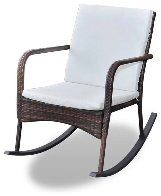 Amazing Vidaxl Garden Rocking Chair Poly Rattan Brown Porch Swing Outdoor Chair Seat Pdpeps Interior Chair Design Pdpepsorg