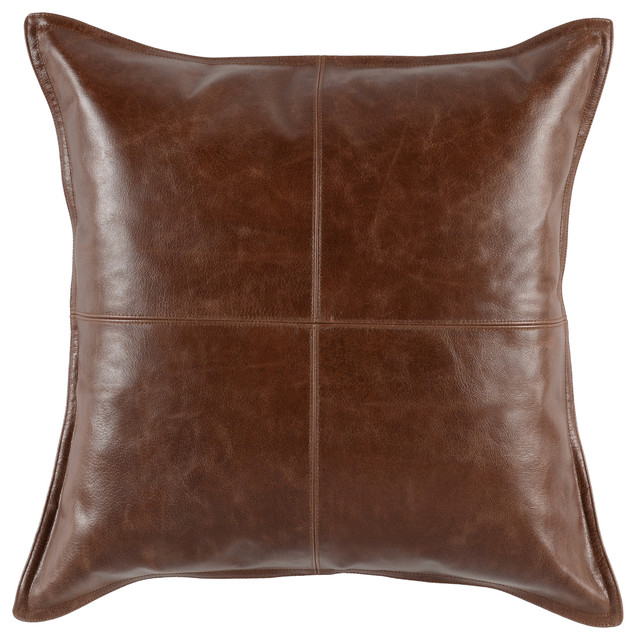 Cheyenne 100 Leather 22 X22 Throw Pillow By Kosas Home Contemporary Decorative Pillows By Kosas