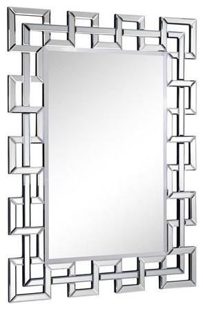 Modern Mirror 48 X 35 1, Inca Contemporary Full Length Leaner Mirror Black