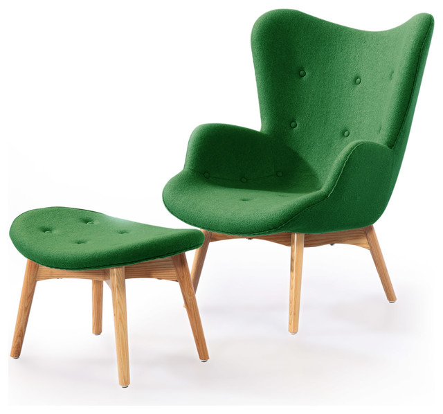 Midcentury Modern Wingback Chairs Houzz