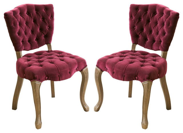 Magnificent Gdf Studio Violetta Tufted Velvet Dining Chair With Cabriole Legs Set Of 2 Gamerscity Chair Design For Home Gamerscityorg