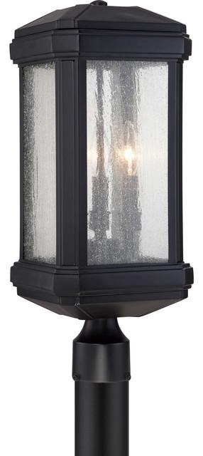 Quoizel Trumbull Outdoor Lantern, Mystic Black.